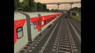 Indian train Simulator Rajdhani Express high speed 720p