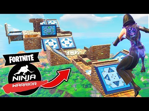 The *IMPOSSIBLE* NINJA WARRIOR COURSE In Fortnite Battle Royale!
