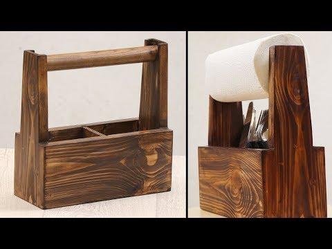 Making wooden kitchen roll holder