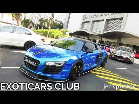 30+ Supercars LOUD Revs and Accelerations! - ExotiCars Club Singapore