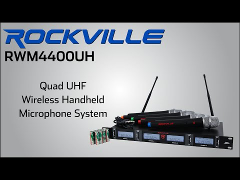 rockville rwm4400uh quad handheld wireless microphone system cp fun music videos. Black Bedroom Furniture Sets. Home Design Ideas