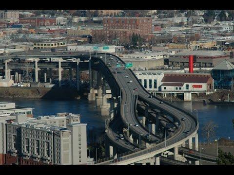 Driving through Portland, Oregon, USA in 1080p