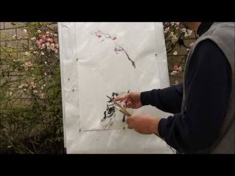Plum Blossom: an Expressive Plein Air Painting Tutorial(HD) with Henry Li (1/2)