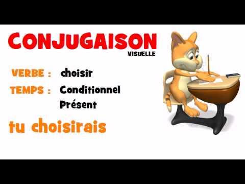Conjugaison Choisir Conditionnel Present Youtube
