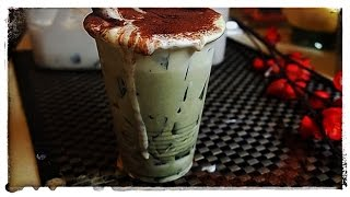 My Frappuccino Drink with Green Tea Jelly and Coffee Jelly