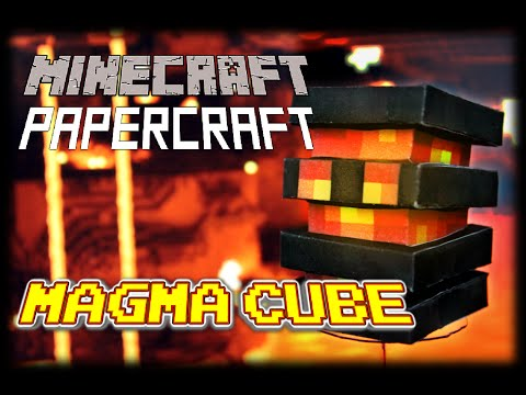 DIY Minecraft Papercraft Nether Theme Set (1/2) - Magma Cube, Wither Skeleton, Ghast, Zombie Pigman