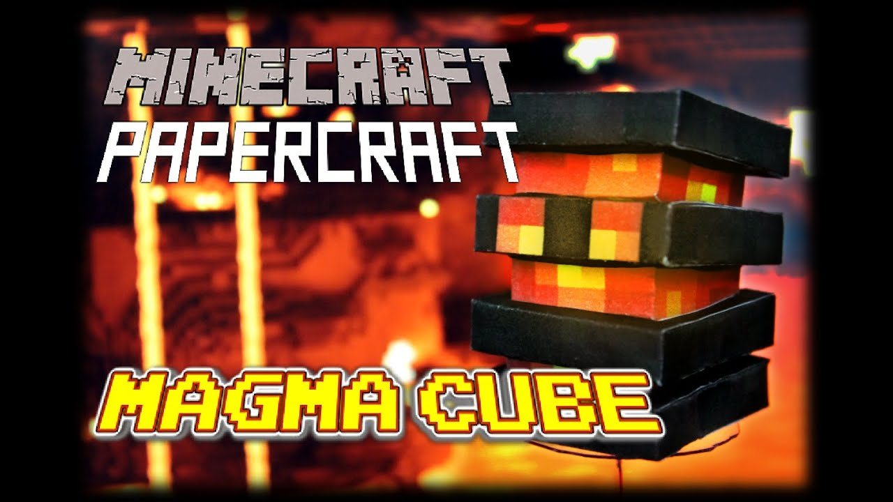 Papercraft DIY Minecraft Papercraft Nether Theme Set (1/2) - Magma Cube, Wither Skeleton, Ghast, Zombie Pigman