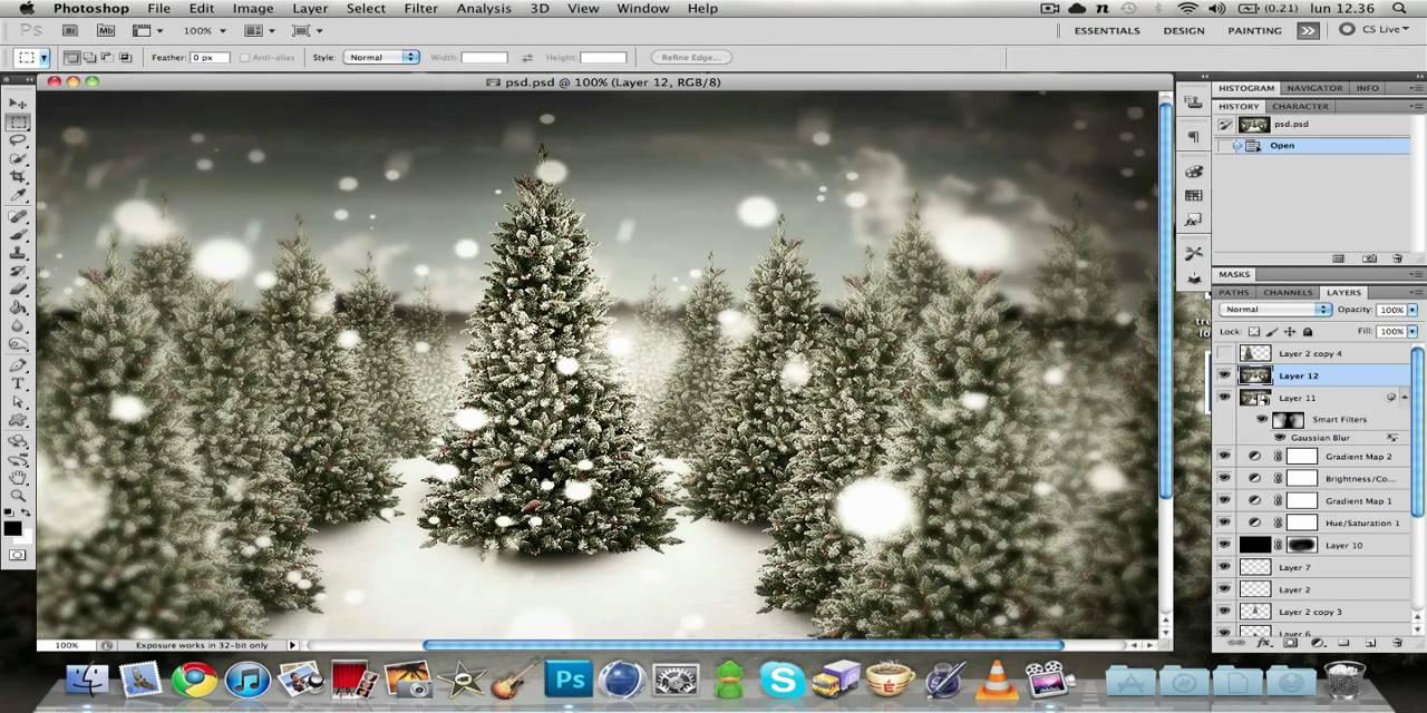 Youtube Sfondi Natalizi.Come Creare Uno Sfondo Natalizio In Photoshop 1 2 Youtube