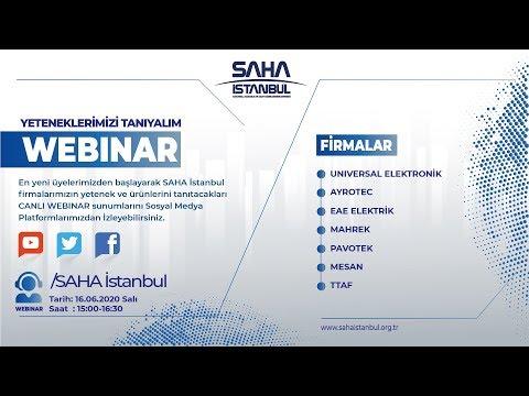 SAHA İstanbul Elektrik ve Elektronik Komitesi 16.06.2020 Canlı Yayını