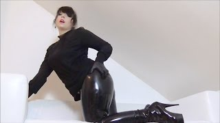 ☚ Brutal Girl in Latex Leggings ♥