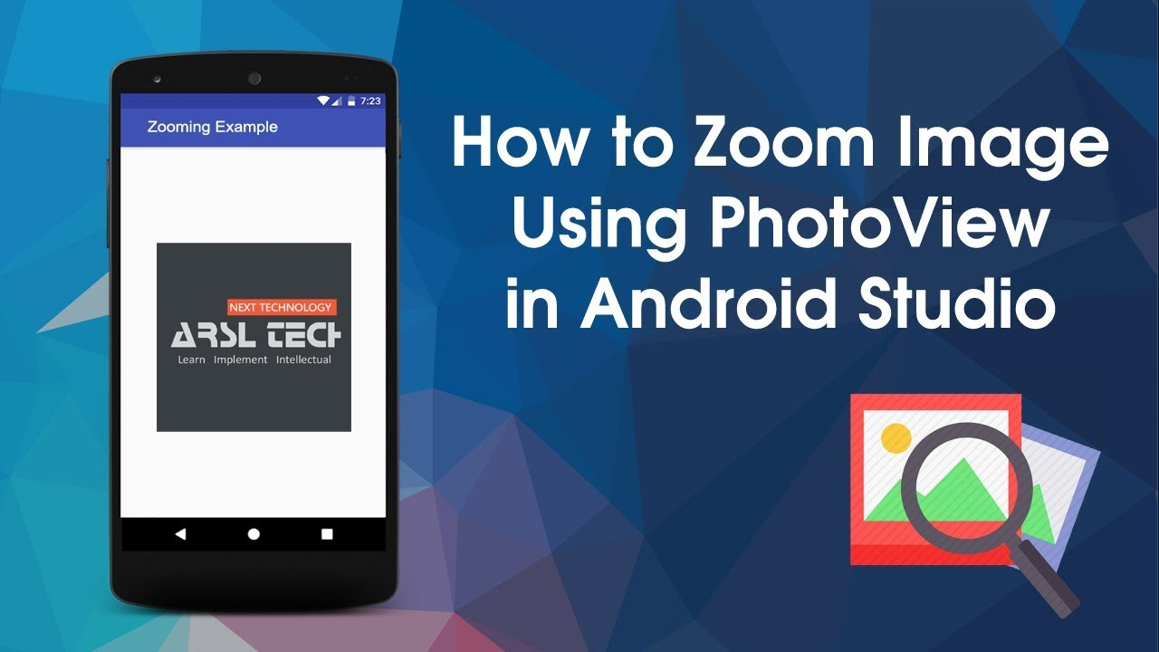 How to Zoom ImageView Using PhotoView in Android Studio