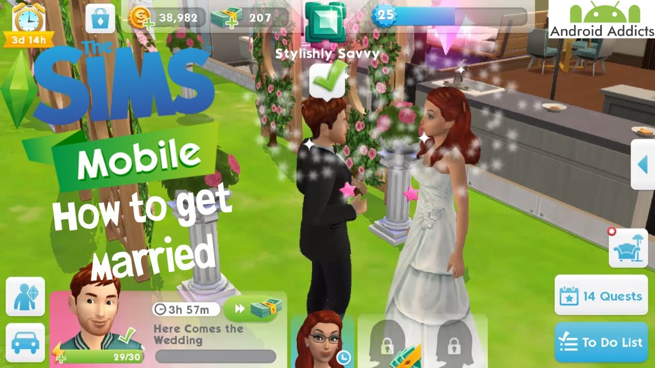 The Sims Mobile How To Get Married Android Ios Youtube