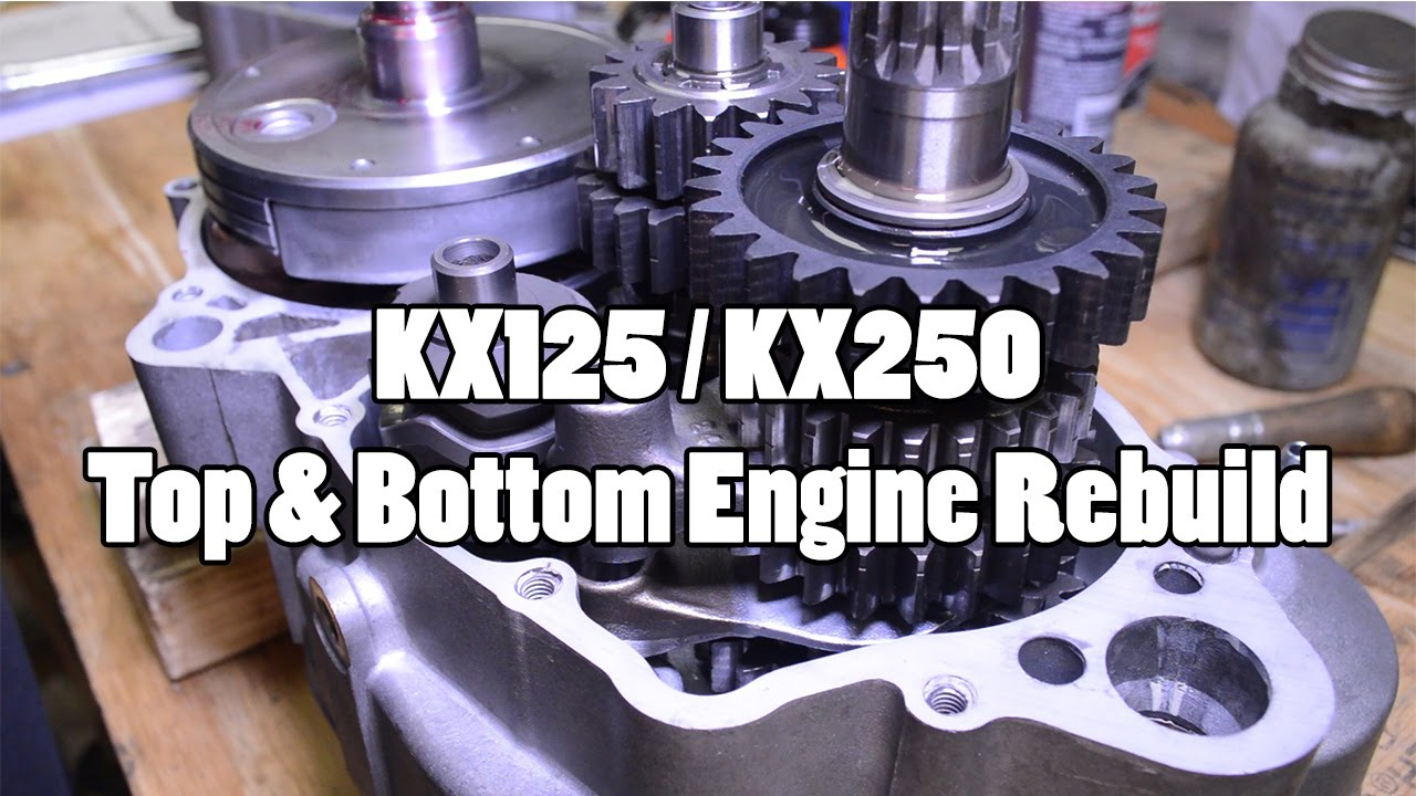 How To Kawasaki Kx125 Kx250 Top Bottom Engine Rebuild 1994 2007 Klr 250 1986 Wiring Diagram Youtube