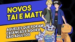 Imagens do Tai e Matt para o novo anime