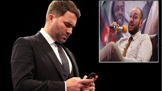 TYSON FURY REVEALS TEXT CHAT DETAILS WITH EDDIE HEARN OVER ANTHONY JOSHUA FIGHT!!