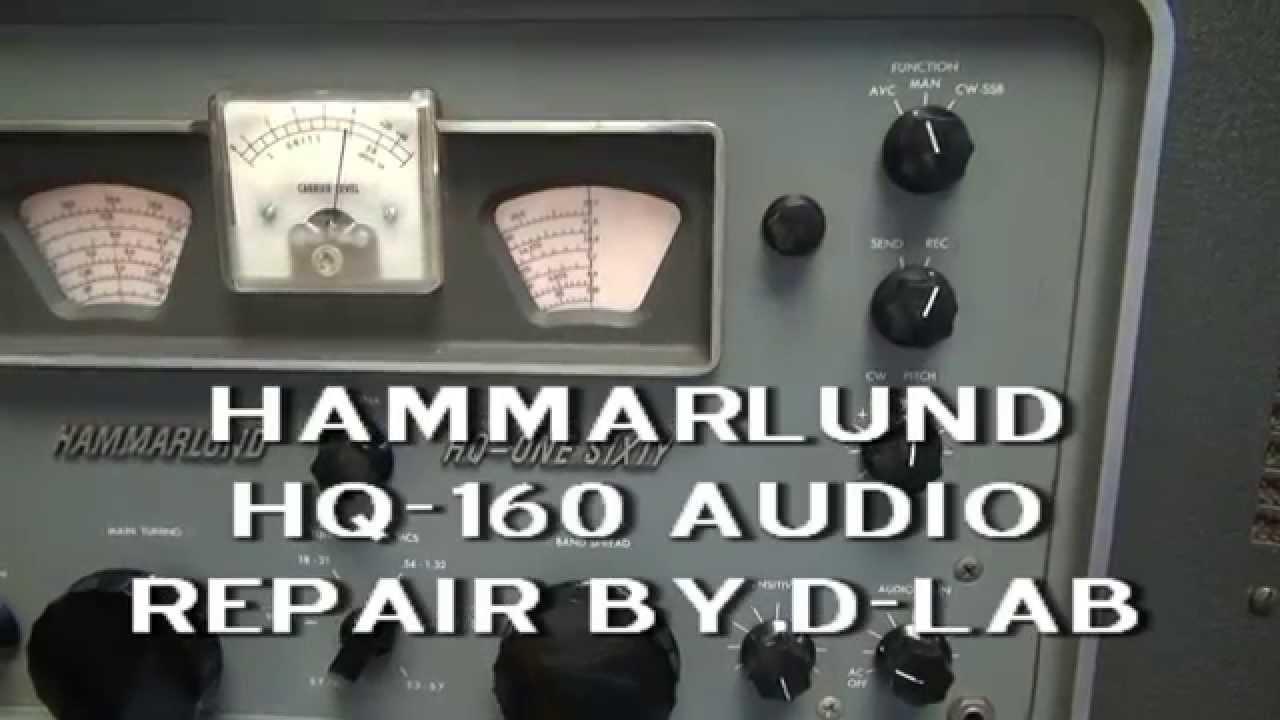 How to repair Hammarlund HQ-160 Tube Ham radio receiver weak audio