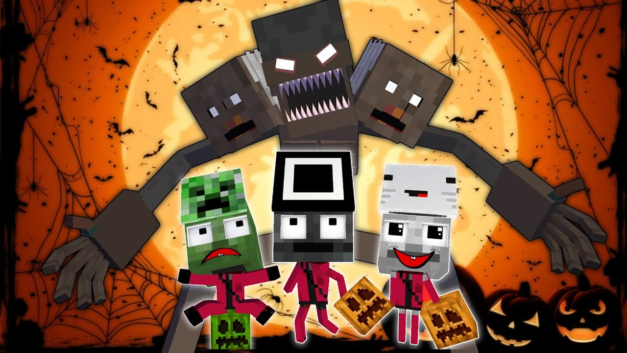 Download Monster School - TRICK GRANNY OR TREAT CHALLENGE - Minecraft Animation