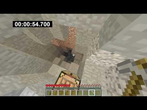 Minecraft Speedrun: Mine Diamond in 2:09.633 (Random Seed)