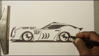 "How To Draw "" SHARK GT PROWLER CAR"" the EZ way"