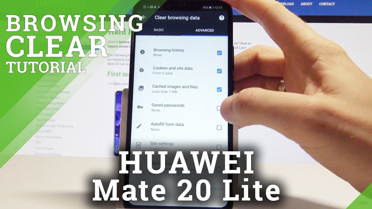 How to Delete Internet History on HUAWEI Mate 20 Lite - Clear Browser Data