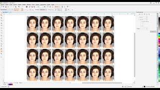 Tutorial Foto 3 x 4 Corel Draw ferramenta Tansformaçoes  e Power Clip