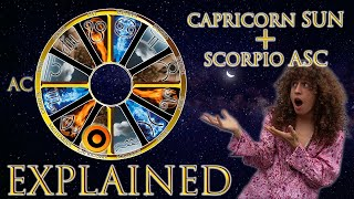 ☉ Sun in Capricorn + Scorpio Asc (rising sign) HD