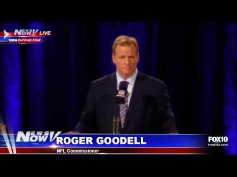 NFL Commissioner Roger Goodell's Annual Super Bowl Press Conference
