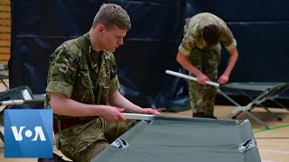 Britain Army Sets Up Coronavirus Recovery Beds in Leisure Center