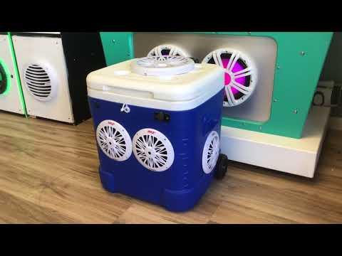 """60qt Cooler Radio w/ 4-6.5"""" Waterproof 200 Watt Speakers & 10"""" Subwoofer"""