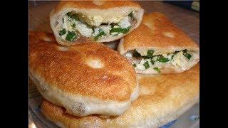 Пирожки с луком и яйцом