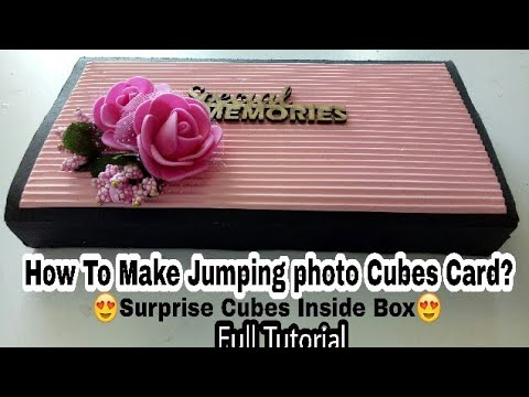 How to Make Jumping Photo Cubes Card|| surprise Cubes Box Card||Cubes Inside Box.