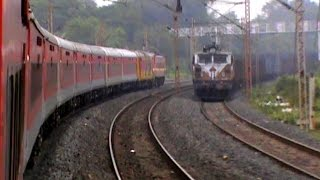 Skipping RaniGanj, circling major curve, and crossing freights for Mejia Power Plant: Ajmer Special