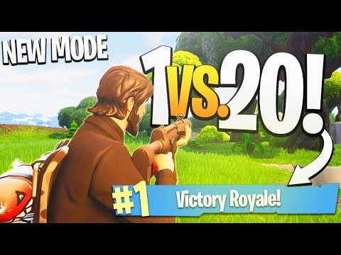 Taking on a WHOLE TEAM, 1 Vs. 20! - PS4 Fortnite Teams of 20 Limited Time Mode Gameplay!