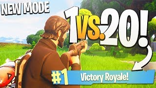 One of iTemp Plays's most viewed videos: Taking on a WHOLE TEAM, 1 Vs. 20! - PS4 Fortnite Teams of 20 Limited Time Mode Gameplay!