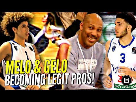 LaMelo & LiAngelo Ball BECOMING LEGIT PROS Now! Playing w/ CONFIDENCE in 3rd LKL Game In Lithuania!