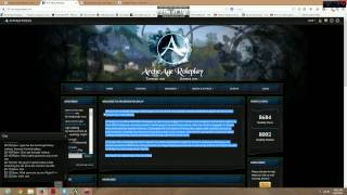 ArcheAge Roleplay Website