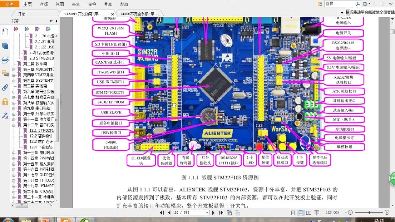 手把手教STM32F103--第4讲 开发板资源描述