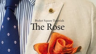 Pocket Square Tutorial: How to fold The Rose