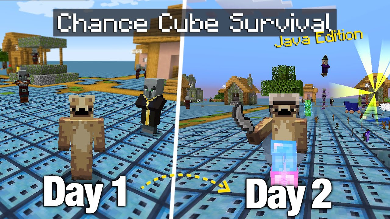 Can you Survive 100 Days on a Flat World made of Nothing but... Chance Cubes