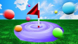 INTERGALACTIC HOLE IN ONE PORTAL! (Golf It)