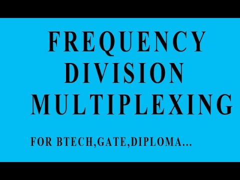 Frequency division multiplexing (fdm) in hindi.