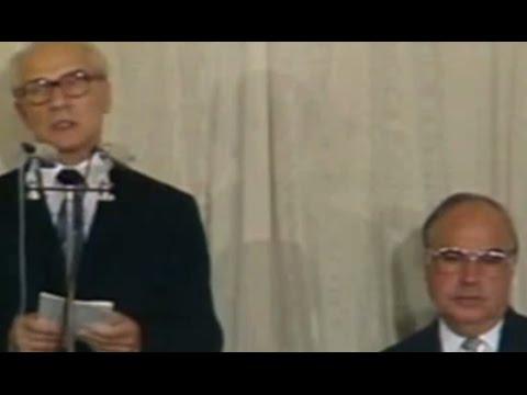 Erich Honecker in Bonn 1987