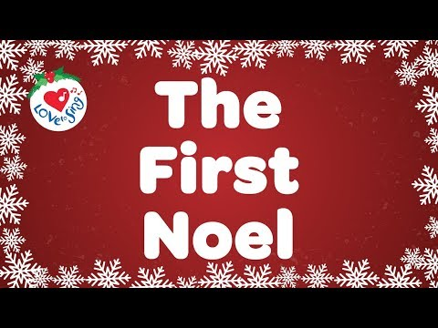 The First Noel with Lyrics | Christmas Carol