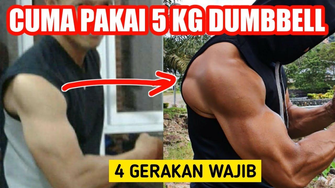 Download Melatih bahu cuma pakai dumbbell 5 kg