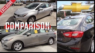 ⚫ Comparison Review - 2018 Chevy Cruze LT vs LS | Differences in Options & Price