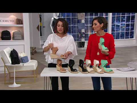 12d10d0fed2 Vince Camuto Leather Ankle Strap Espadrilles - Levista on QVC - YouTube