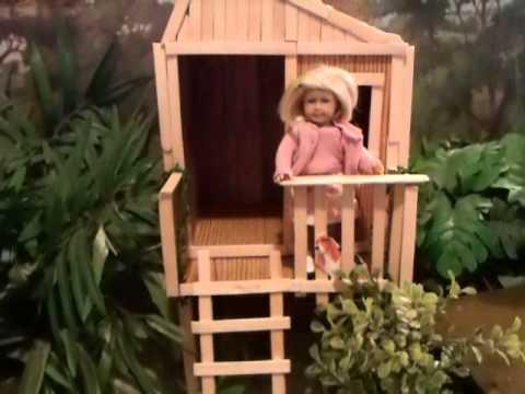 How to make mini kit 39 s tree house youtube - Make your house a home ...