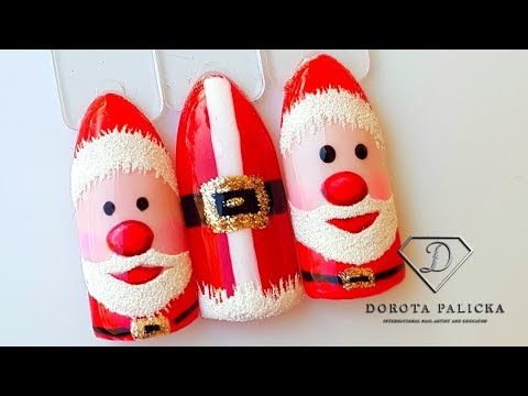 #36 Christmas nails tutorial. Santa nail art. Santa nails. Christmas nail compilation thumbnail