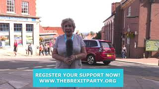 Christina Simmonds BREXIT Party PPC for West Worcestershire in Malvern 14/09/2019