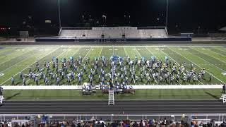 Rogers High School Marching Band performs